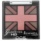 Rimmel Glam Eyes HD Quad Eye Shadow - 005 English Rose