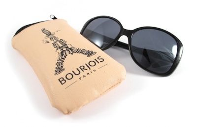 Bourjois Sunglasses Black With Padded Faux Leather Zip Case