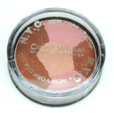 NYC Color Wheel Mosaic Eye Powder 822b Pink Cadillac