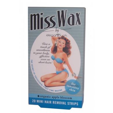 Elegant Touch Miss Wax 20 Mini Hair Removal Strips