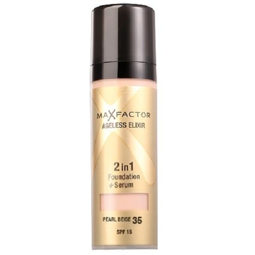 Max Factor Ageless Elixir 2 in 1 Foundation And Serum - 35 Pearl Beige