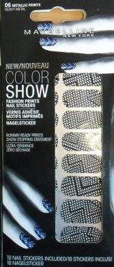 Maybelline Color Show Fashion Nail Sticker 06 Metallic Prints