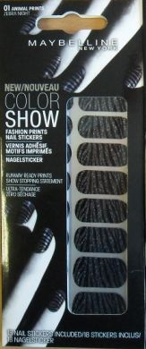 Maybelline Color Show Fashion Nail Sticker Animal Print