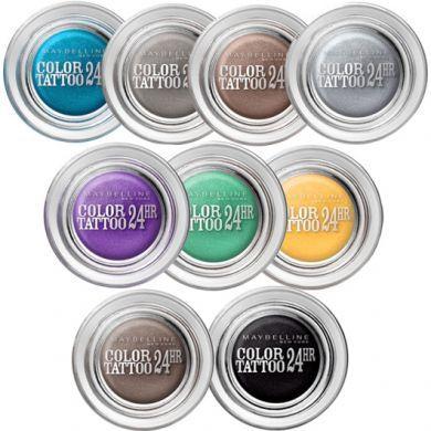 Maybelline Color Tattoo 24hr Cream Gel Eyeshadow - 50 Eternal Silver