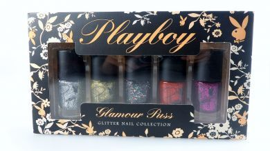 Playboy Glamour Puss Glitter Collection Nail Polish Set