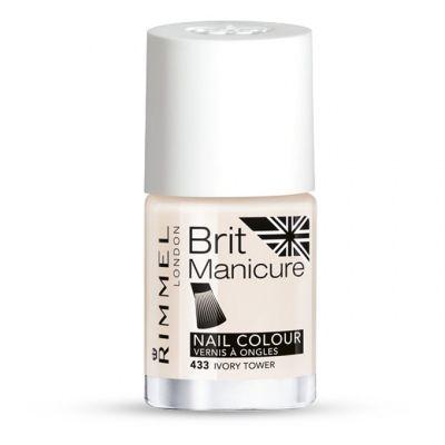 Rimmel Brit Manicure Nail Tip Colour 433 Ivory Tower