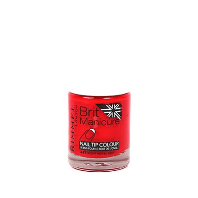 Rimmel Brit Manicure Nail Tip Colour 447 Right Royal Red