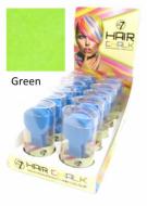 W7 Hair Chalk Pastels Semi Permanent Hair Colour Dye Temporary - Green