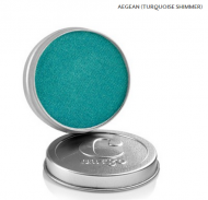 Cargo Single Eye Shadow Tin - Aegean - Turquoise Shimmer