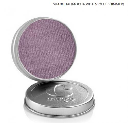 Cargo Single Eye Shadow Tin - Shanghai - Mocha With Violet Shimmer