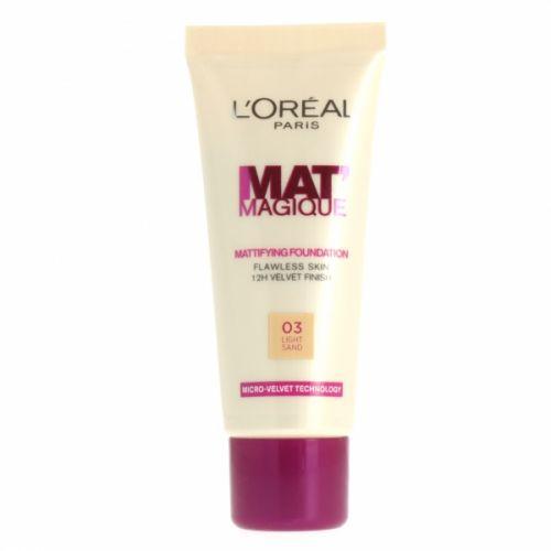 L'Oreal Paris MAT Magique Mattifying Foundation - 03 Light Sand