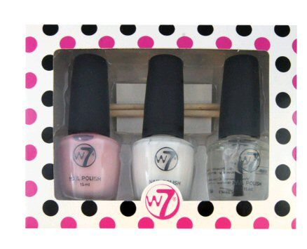 W7 Trio French Affair Manicure Nail Polish Set St Tropez